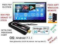 TV Stick H96 Pro H3 Mini PC Android 7.1.1 Amlogic S912 8Core 2.4G 5G Wifi2G/16G 1080P 4K HD TV Stick