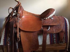 Billy cook roping barrel combination saddle
