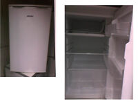 BUSH UNDER COUNTER FRIDGE WITH SMALL FREEZER BOX GOOD WORKING ORDER DETAILS BELOW