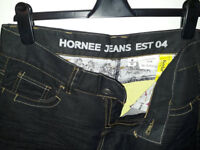 NEW Hornee Kevlar HJ-W7 Motorcycle Jeans UK 12R Black
