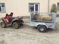 GALVANISED QUAD TRAILER MESHSIDE RAMP SHEEP DIVIDER AND LOADING GATE SUZUKI HONDA YAMAHA TRACTOR ATV