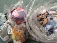 Large bag shirt fabric samples small pieces