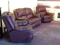 Leather 3 piece Suite