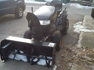 Poulan Garden tractor with bercomac snowblower