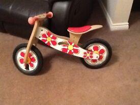 Kids wooden bike