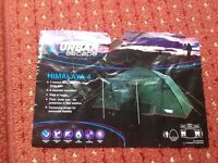 Urban Escape 4 man Tent, only used 4 times, compact in its own carrying bag