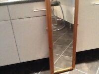 Full length mirror pine effect
