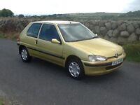 Peugeot 106 1.1 petrol for sale,full yr m.o.t...£395