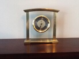 Mantle Clock (gold and glass) Marks & Spencer