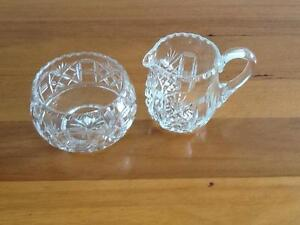 'Grimwade' Crystal Creamer and Sugar Bowl Taren Point Sutherland Area Preview