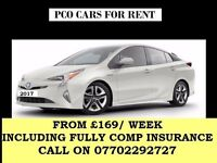 PCO CAR RENT,PCO CAR HIRE,UBER READY,TOYOTA PRIUS RENT/HIRE FROM £169/WEEK INC FULLY COMP INSURANCE