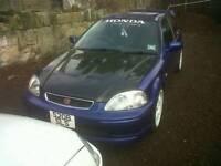 Honda civic ek ej9 96 to 98 pre facelift carbon faber bonnet / scoops / vents