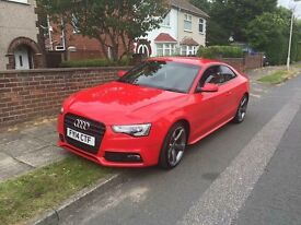 Audi A5 black edition 18,000 full history 2.0 tdi full leather sat nav