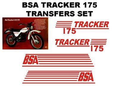 BSA TRACKER 175 FULL TRANSFER DECAL SET MOTORCYCLE NVT NORTON TRIUMPH