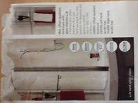 Mist Offset Quadtant Enclosure with Shelves