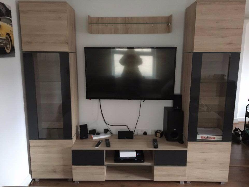 Home Furniture Living Room Sofa Bed Drawer Led TV Set