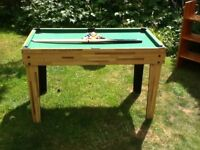 Pool Table for Children with cues and balls