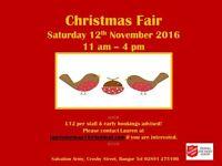 Christmas Fair, Salvation Army, Bangor