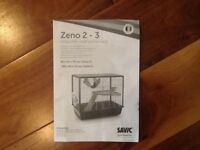 Small furry animal cage (Zeno 2) plus extras including running wheel