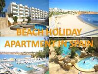 Private Beach Holiday Apartment in Spain - sleeps 6