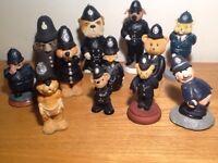 Rare collection of 12 Policeman figures