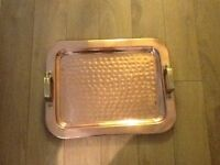 HAMMERED COPPER TRAY