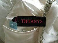 Tiffany's bridal gown - size 12 - not worn with label - Price £355 will take £200