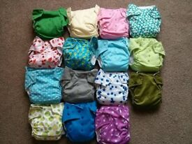 Reusable cloth nappies bundle, pre-loved - to post or collect (Sheffield) - price reduced