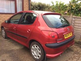 Peugeot 206 1.1S low mileage for year and good condition throughout