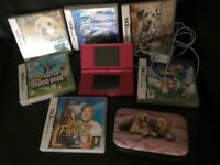 Nintendo DS with 6 games, including Supermario Bros and Supermario DS