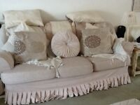 Three seater sofa and two armchairs with removable covers