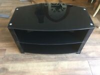 Black Glass TV and DVD stand