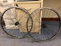 "Syncros Big Box 26"" front & back mountain bike wheels. Schwalbe Rapid Rob cyclocross tyres."