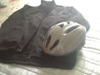 cycle jacket and helmet nearly new