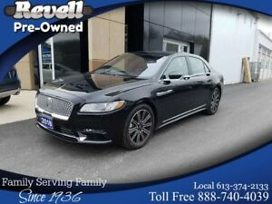 2018 Lincoln Continental RESERVE AWD | TECHNOLOGY PKG | ONLY 3,0