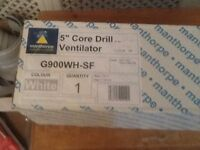 """5"""" Core Vent Cavity Ventilator Anti Draught Brown Cowl for Gas"""