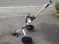 Bargain Slazenger 2 wheels push/pull golf trolley