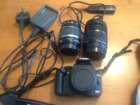 CANON EOS 350D and two lens