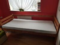 single bed wood