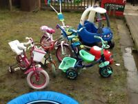 A load of kids out side toys £50 the lot will be good for car booty