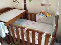 John Lewis cot bed with changing table