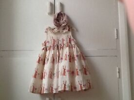 Ex condition next baby girl dresses and sleep suits Easter bunny design one dress three sleep suits