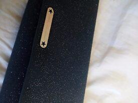 Ladies Julien MacDonald Grey Sparkly Clutch Bag