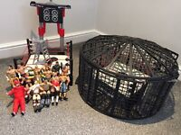 WWE wrestling ring and figure .