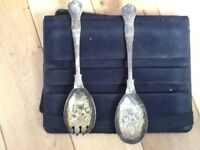 Sheffield Silver BerryServing Spoons