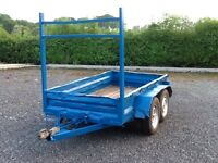 TRAILER 8ft5''by 4ft8'' STEEL BUILDERS TRAILER HAS LADDER RACK MUDGUARDS LIGHTS JUST BEEN PAINTED