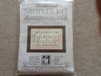 Traditional sampler cross stitch kit 'to everything there is a season and a time'