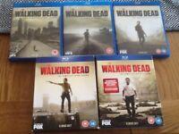 The walking dead complete seasons 1,2,3,5,6 blu ray