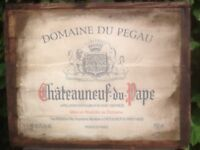 Handmade vintage vine printed on canvas from France