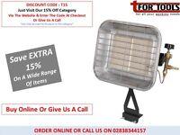 SEALEY LP13 Space Warmer Propane Gas Heater 10,250-15,354Btu/hr Bottle Mounting